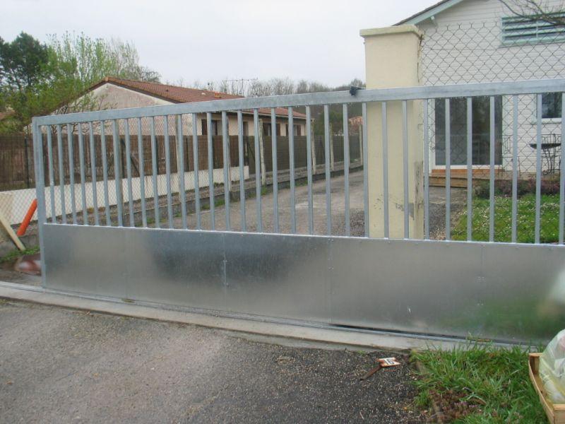 Souvent serrurerie-chaudronnerie-duclos martial » Portail coulissant galvanisé GA32